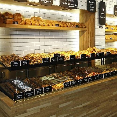 Interior design for bakery