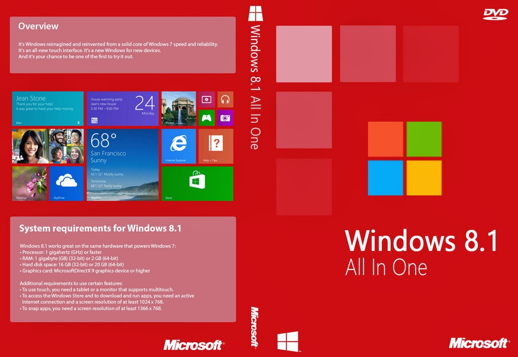 Windows 8.1 Update RTM x86-x64 AIO 12in1 May 2014