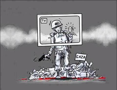 Charge - a mídia conivente - Israel - Gaza