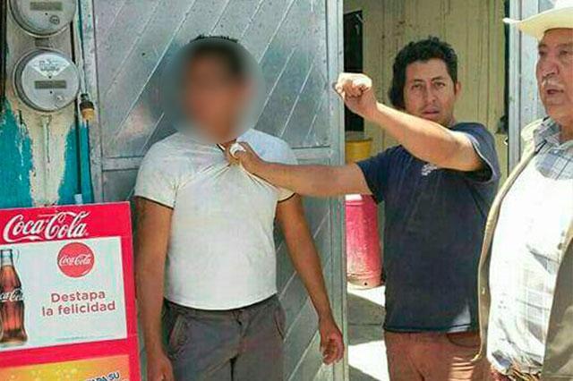 Intentan linchar a ladrón en Tlanalapan
