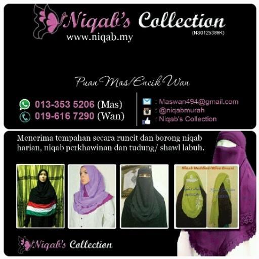 tudung labuh, niqab, purdah, beli purdah online, tutup aurat