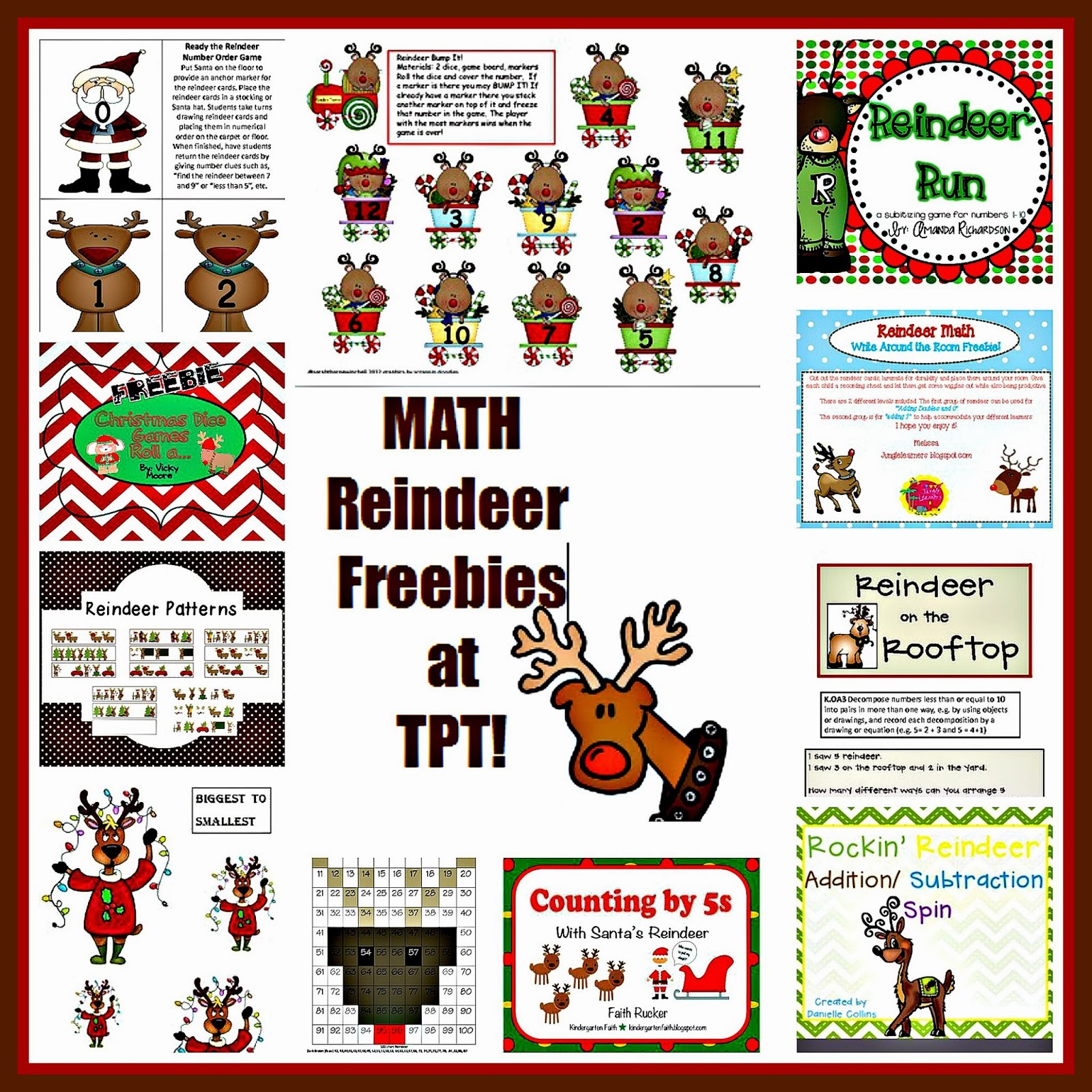 Reindeer freebies