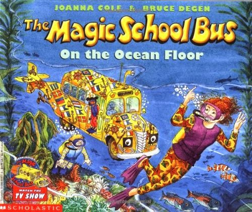 The Magic School Bus on the Ocean Floor by Joanna Cole, featured in a book review list of ocean books for preschoolers