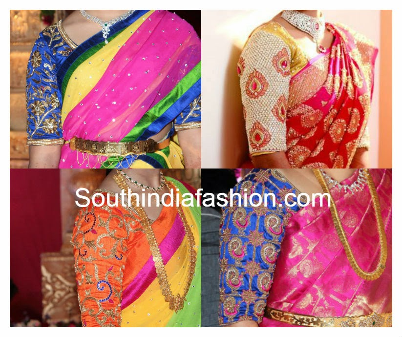 Traditional Blouse Back Designs 13