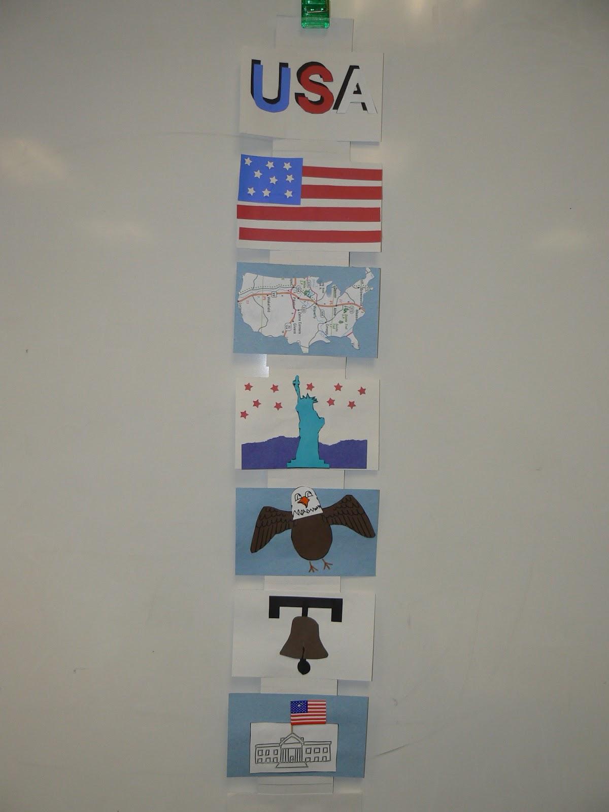Mrs Ts First Grade Class American Symbols Book