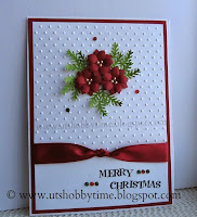 http://utshobbytime.blogspot.com/2015/01/handmade-christmas-holiday-greeting-embossed-cas-card-easy-free-poinsettia-punched-paper-flower-tutorial-technique.html