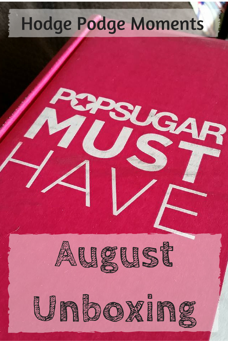 Popsugar Must Have Box: August Unboxing