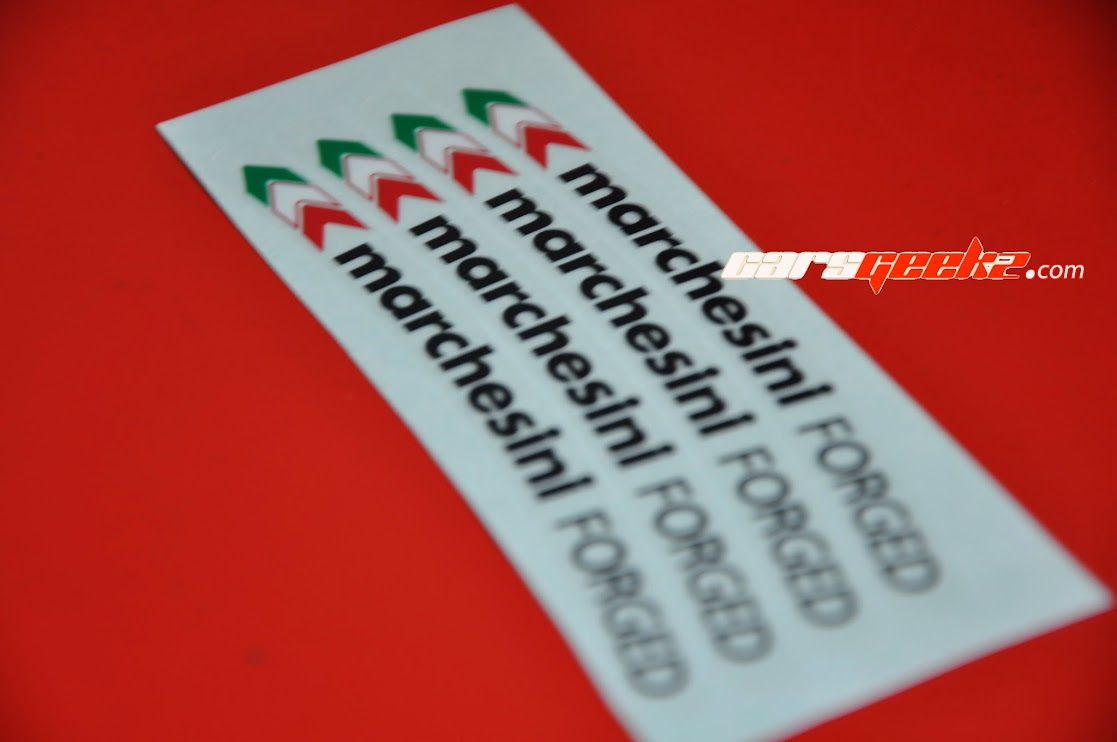 Marchesini Forged Black and Yellow sticker decal 6