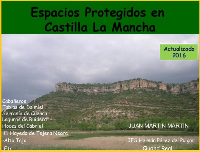 Espacios Protegidos en Castilla La Mancha