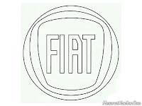 Mewarnai gambar logo mobil Fiat