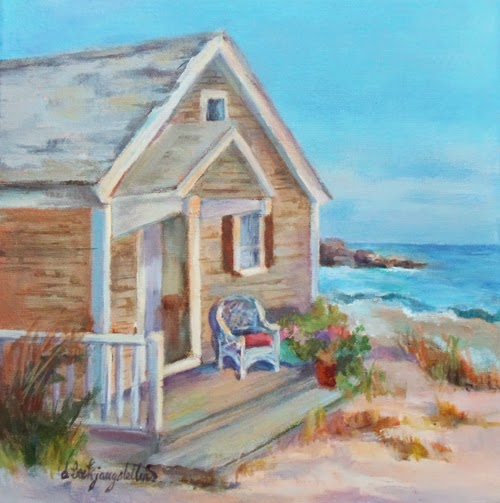 Deanna's Paintings: Beach Cottage Painting, Beach House ...