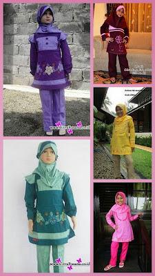 Baju muslim anak wanita usia 13 tahun untuk lebaran