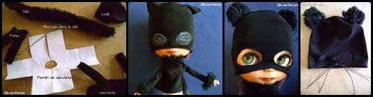 cómo hacer un disfraz de gato para muñecas