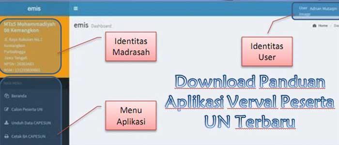 Panduan Aplikasi Verval Peserta UN Terbaru