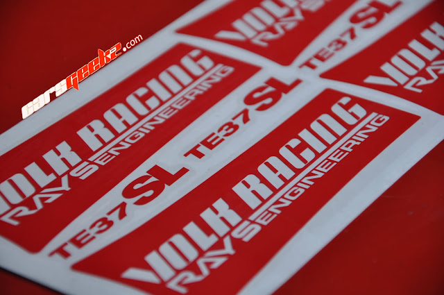 Volk Racing Rays Engineering TE37SL sticker vinyl in red