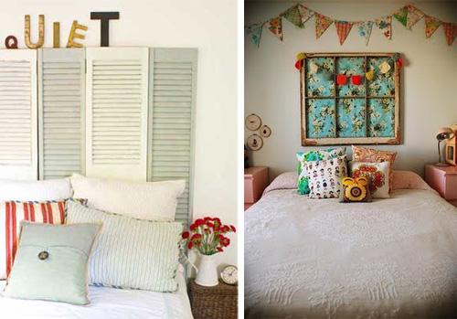 Mamypops cabeceros de cama con ventanas recicladas - Cabezales de tela ...