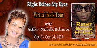 Right Before My Eyes by Michelle Robinson blog tour- author interview and excerpt
