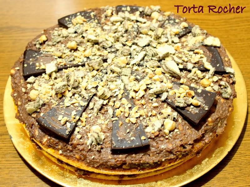 torta rocher e per un giorno non badiamo alle calorie