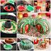 DIY Rainbow Tie-dye Christmas Wreath Bundt Cake