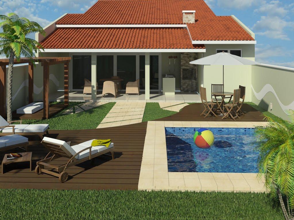 Uma casa para n s dois quintal for Modelos de piscinas de campo
