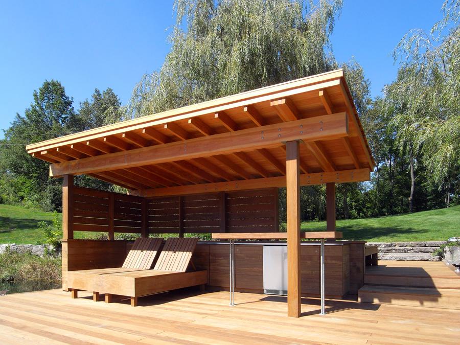4 Post Cabana : Jenny francis design heart lake cabana