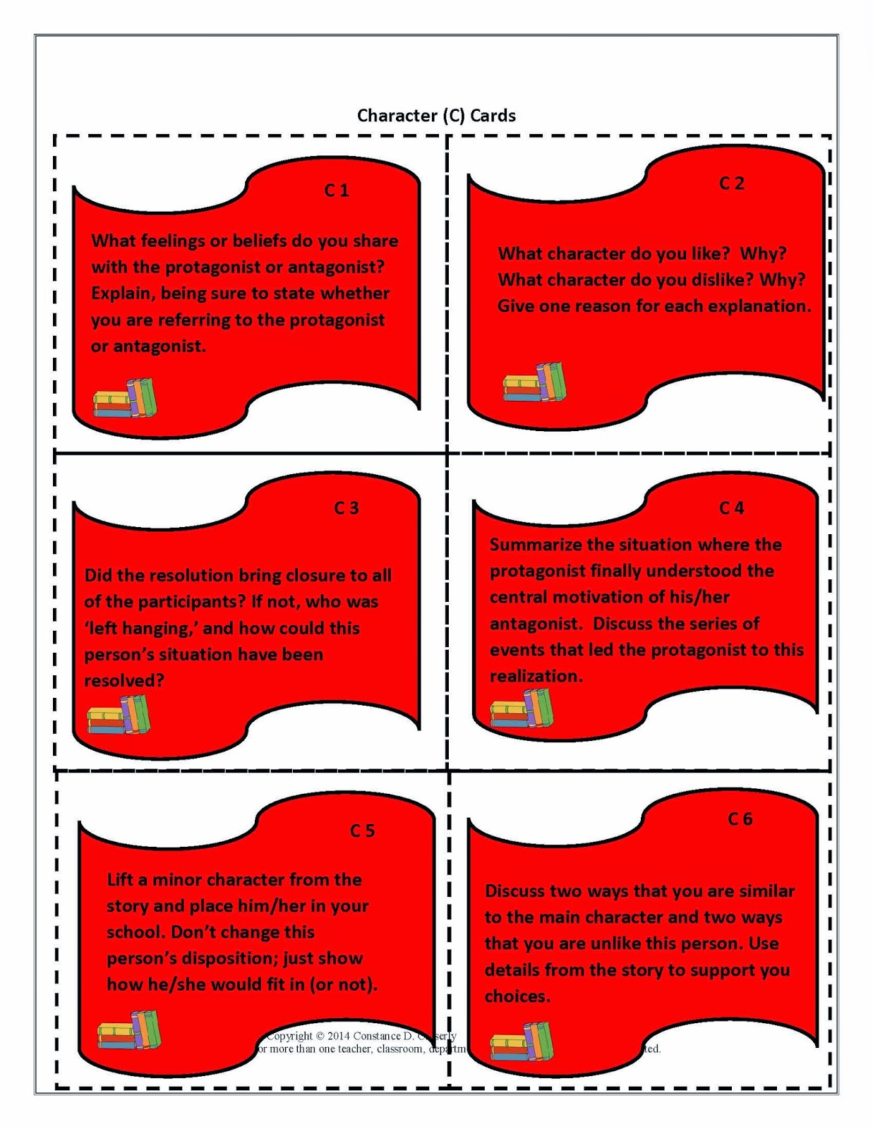 Literature Task Cards-Character