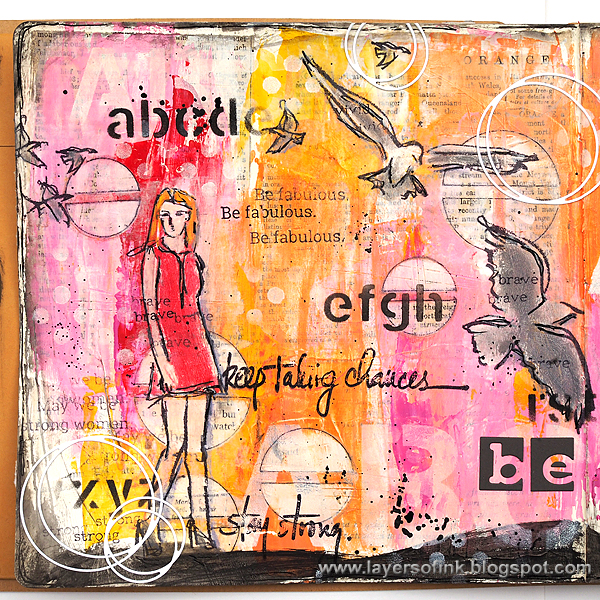 Layers of ink - Be You Journal Page by Anna-Karin