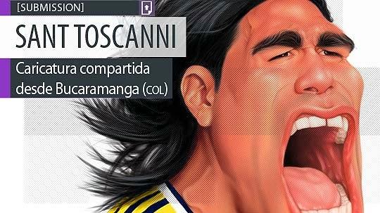 Caricatura. Falcao de SANTIAGO TOSCANO aka Sant Toscanni
