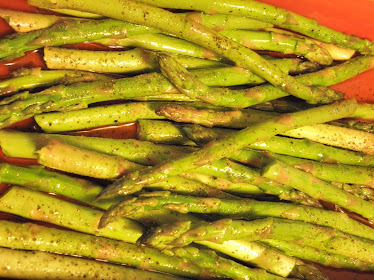 Fresh  Asparagus Getting Ready to Hit the Grill