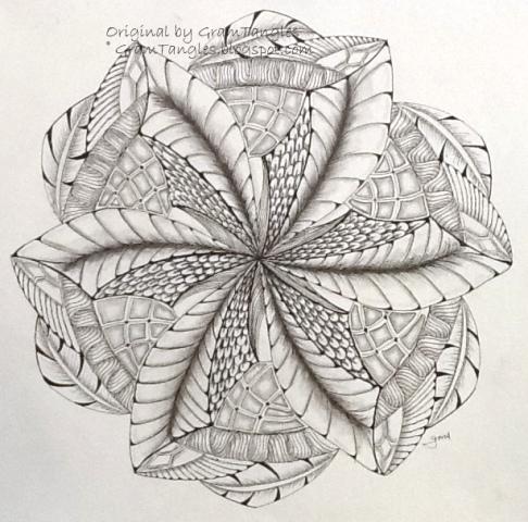Gramtangles dragon swirl mandala - Mandala de dragon ...