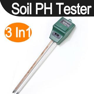 3in1 Plant Flowers Soil PH Tester/Moisture/Light Meter