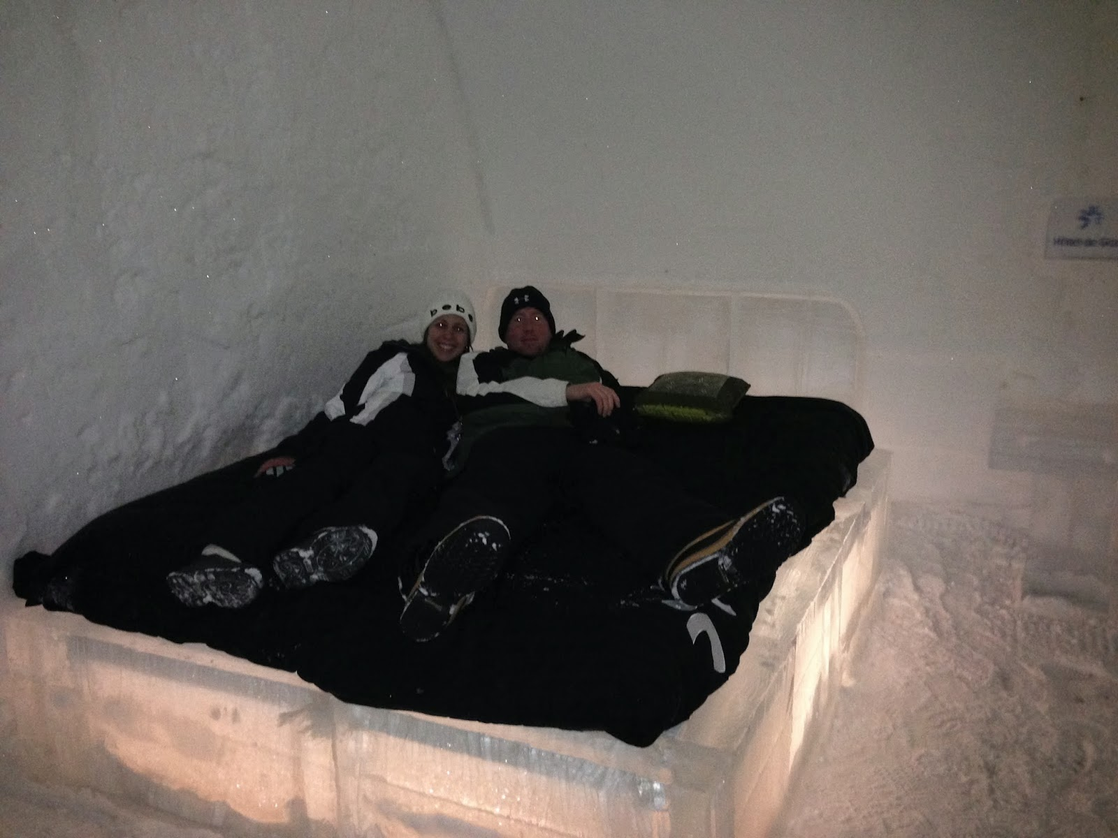 Hotel De Glace ice bed