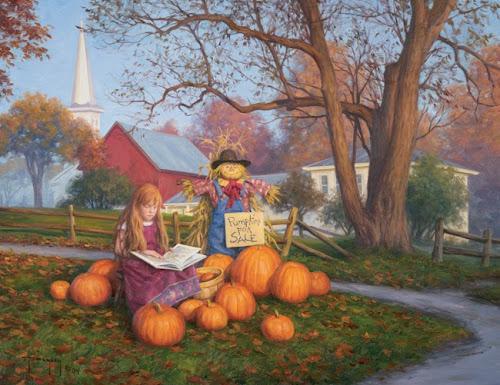 Pumpkins for Sale by Robert Duncan