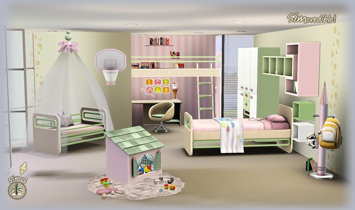 My sims 3 blog little wonders bedroom set by simcredible for Sims 3 bedroom designs