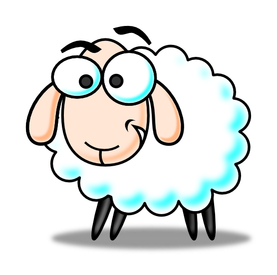 Cartoon picture of sheep