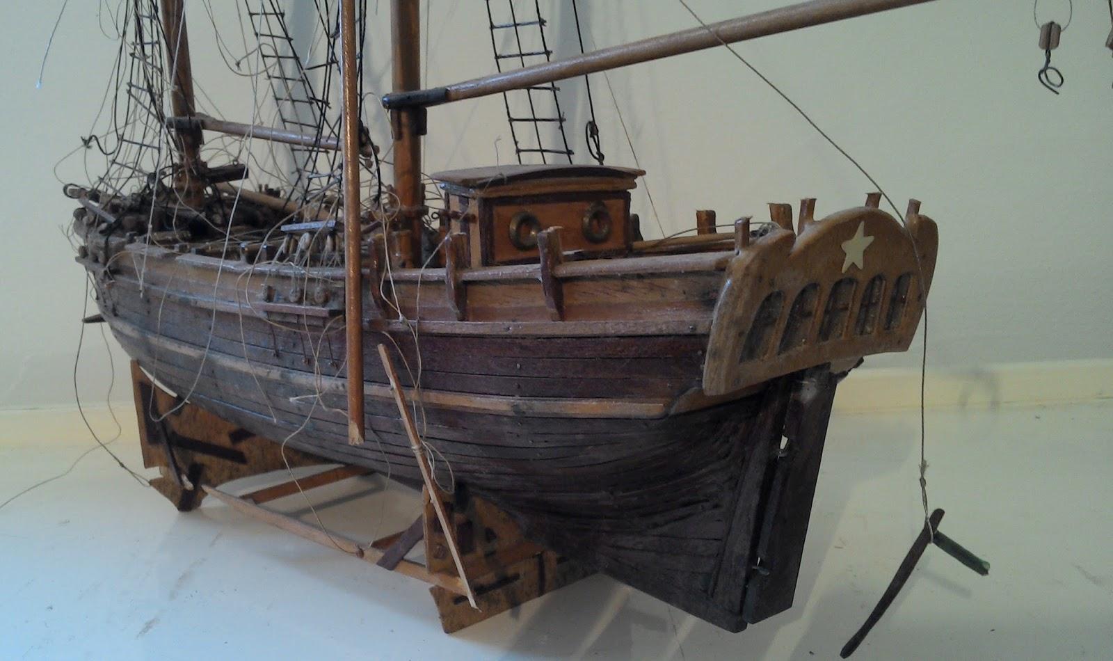 maquette bateau voilier trois mats bois marine ancien mer ocean port a. Black Bedroom Furniture Sets. Home Design Ideas