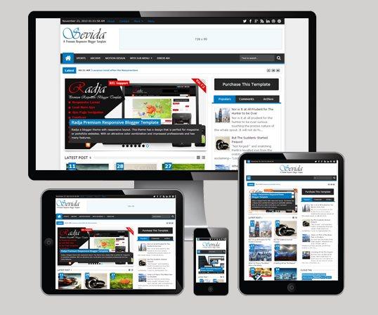 sevida responsive magazine blogger template