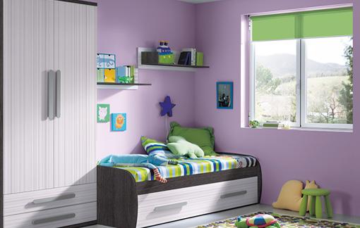 Variedad de dormitorios infantiles a todo color - Decoracion habitacion infantil pequena ...