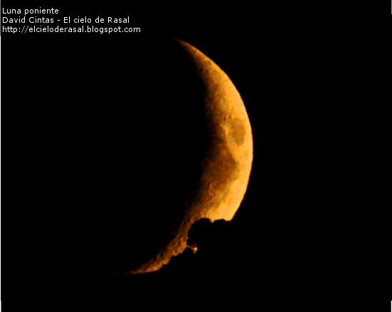 Luna poniente - El cielo de Rasal