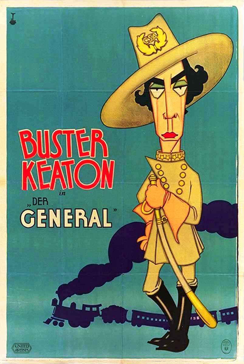 1926 : El maquinista de la General : Buster Keaton