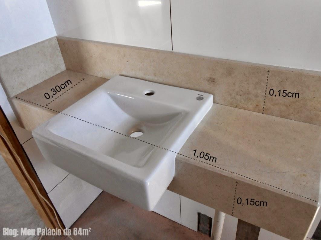 legal com os outros revestimentos do banheiro e com a cuba branca #3B261B 1062x794 Bancada Banheiro Duas Cubas