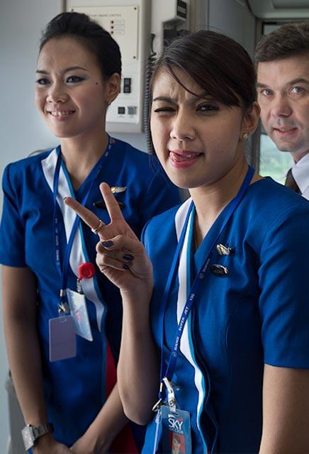 Pramugari Sexy Pesawat Sukhoi2