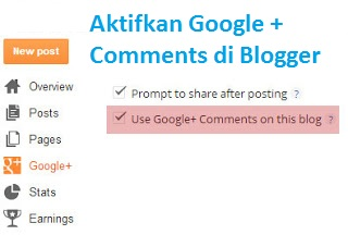google plus comments di blogger