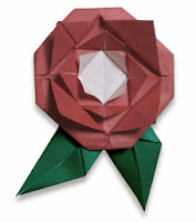 Beautiful Origami rose