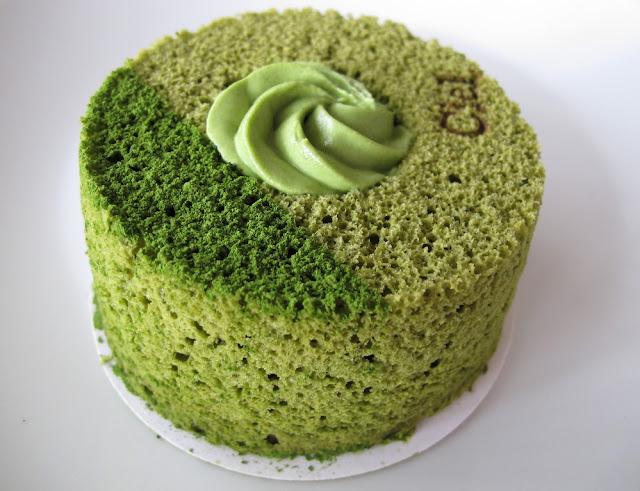 Chiffon cake matcha - Pâtisserie Ciel Paris