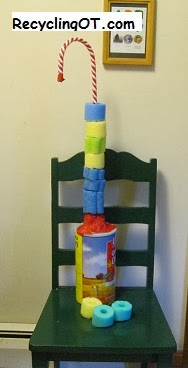 The Recycling Occupational Therapist Using Pool Noodles To Adapt Ring Stacks