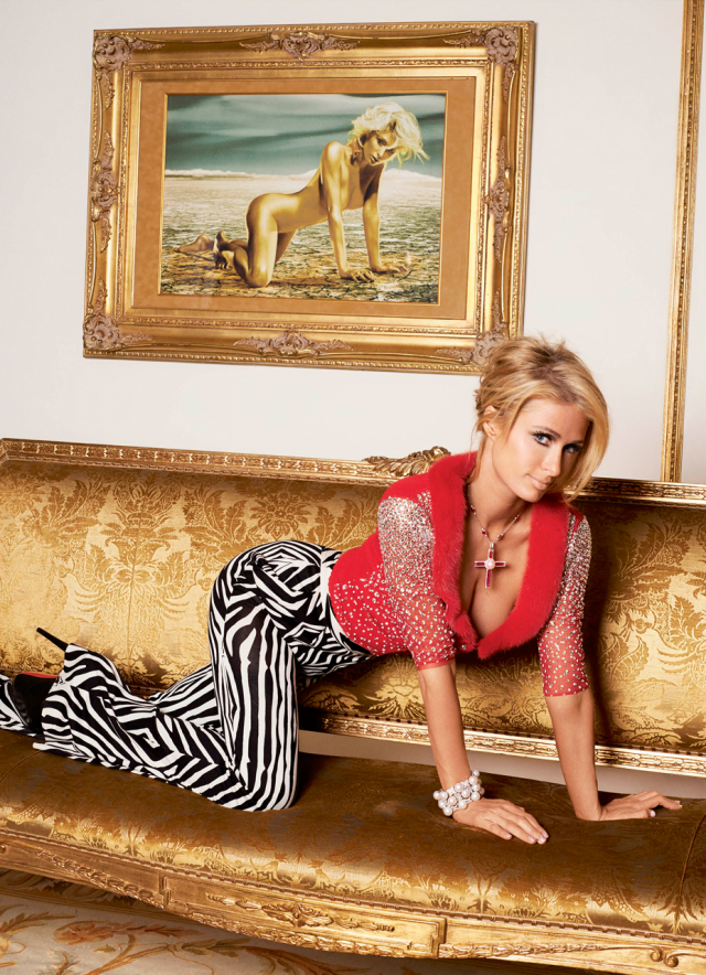 Paris Hilton en V Magazine Mar 2014