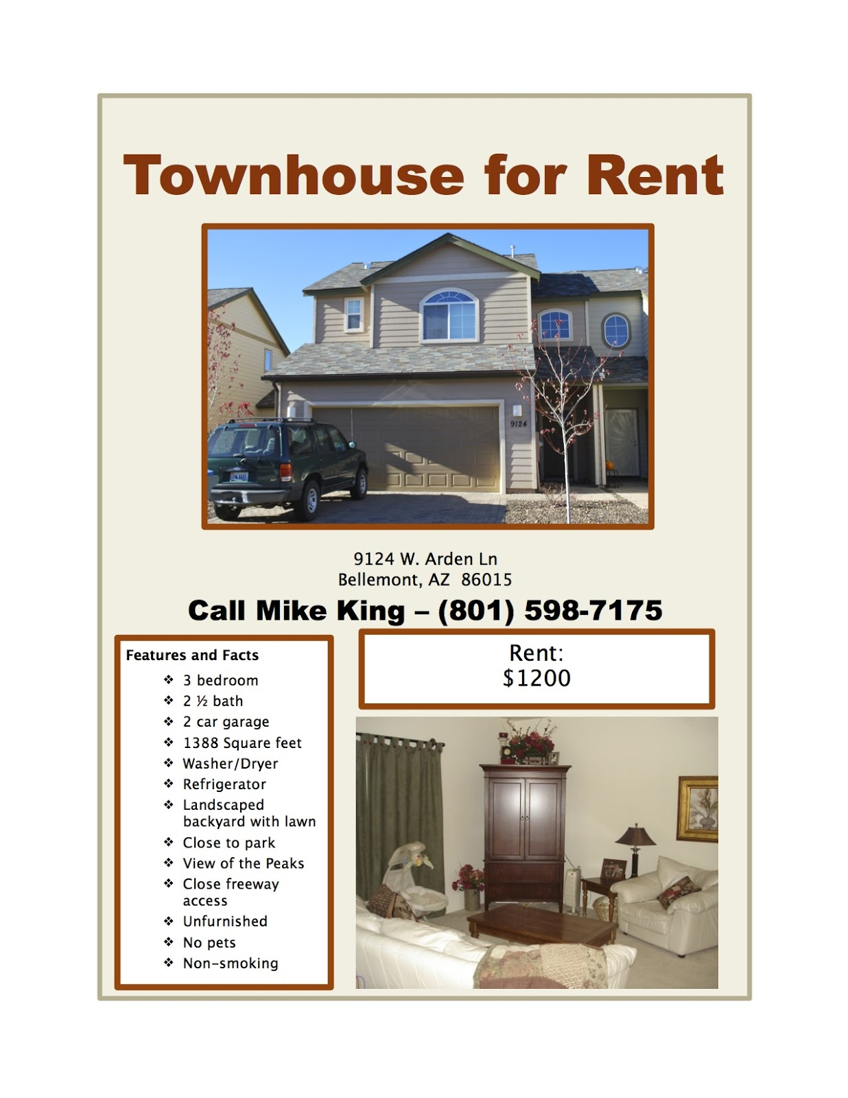 Superior Rent Flyer Templates Regard To For Rent Flyer Template