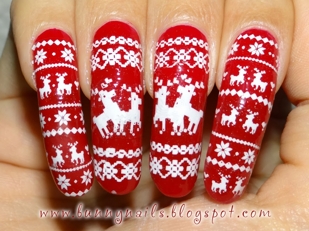 Bunny Nails Merry Christmas Nice And Naughty Nail Art