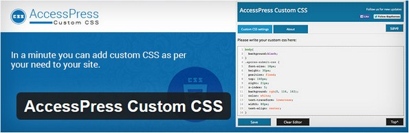 Custom CSS plugin from AccessPress